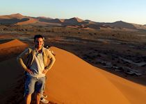 Alex at the dunes at Sossusvlei, Namibia