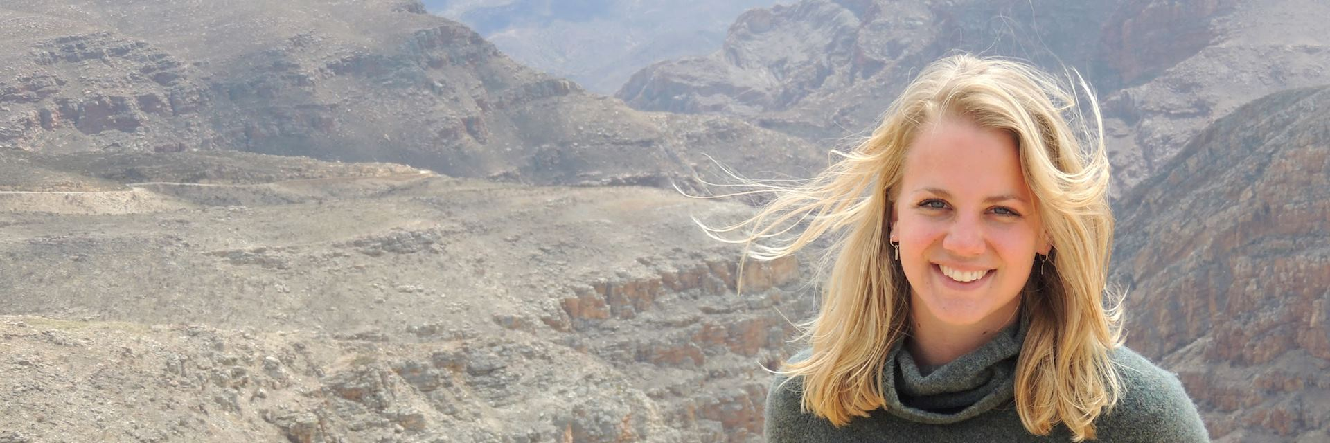 Amelia in the Swartberg Mountains, South Africa