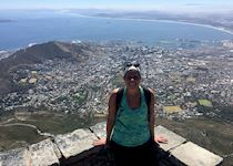 Anna on Table Mountain, South Africa