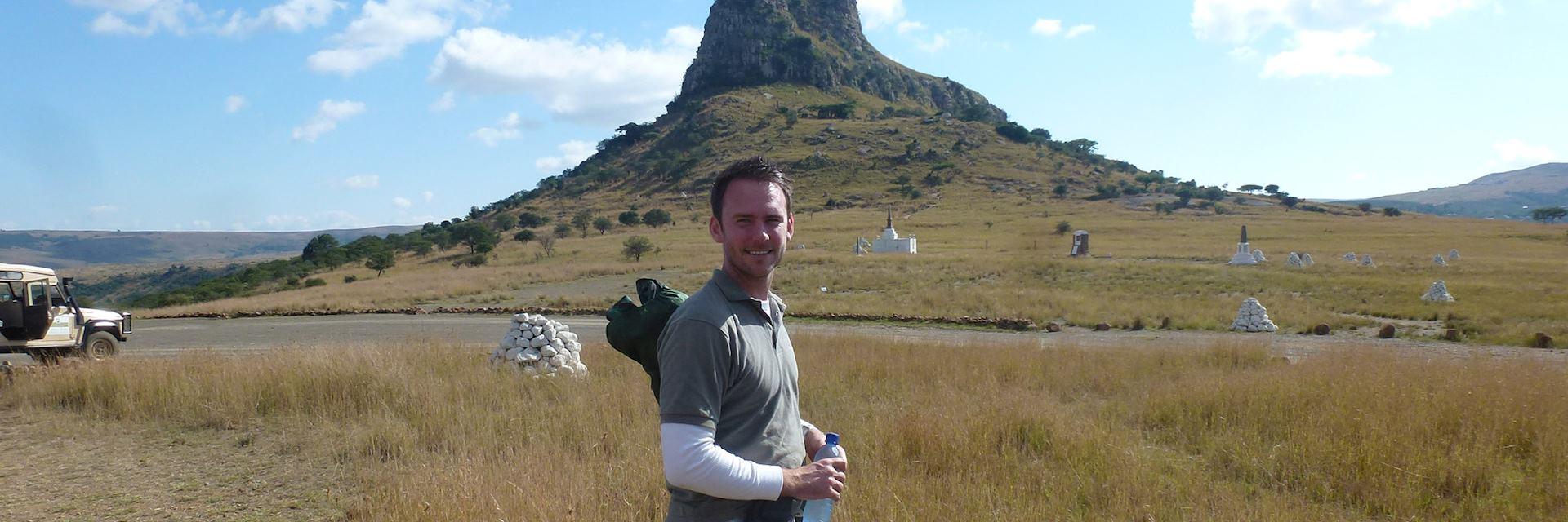 Anthony at Isandlwana for a battlefields tour, Kwa-Zulu Natal