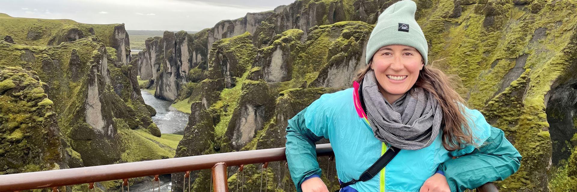 Brittany at Fjaðrárgljúfur, Iceland