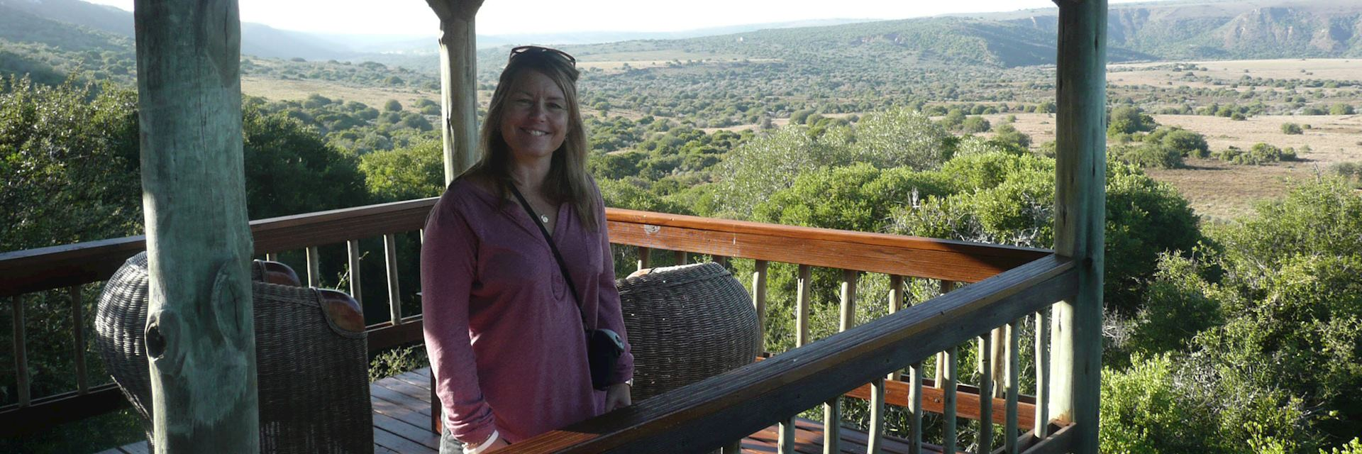 Christine at Amakhala Woodbury Lodge, The Eastern Cape, South Africa