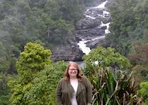 Courtney in the Ranomafana National Park, Madagascar