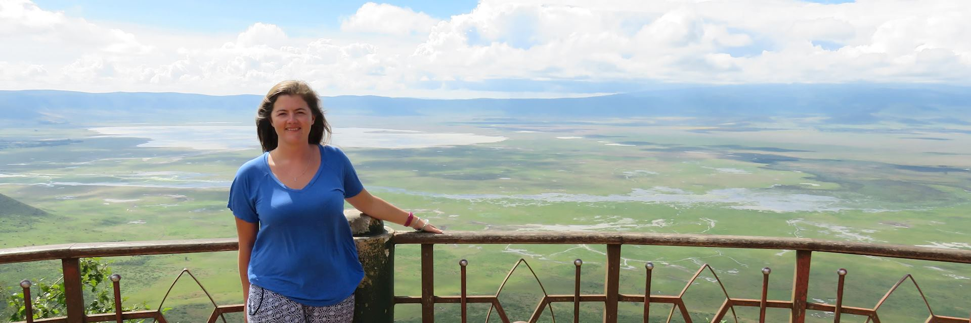 Emily at the Ngorongoro Crater viewing point