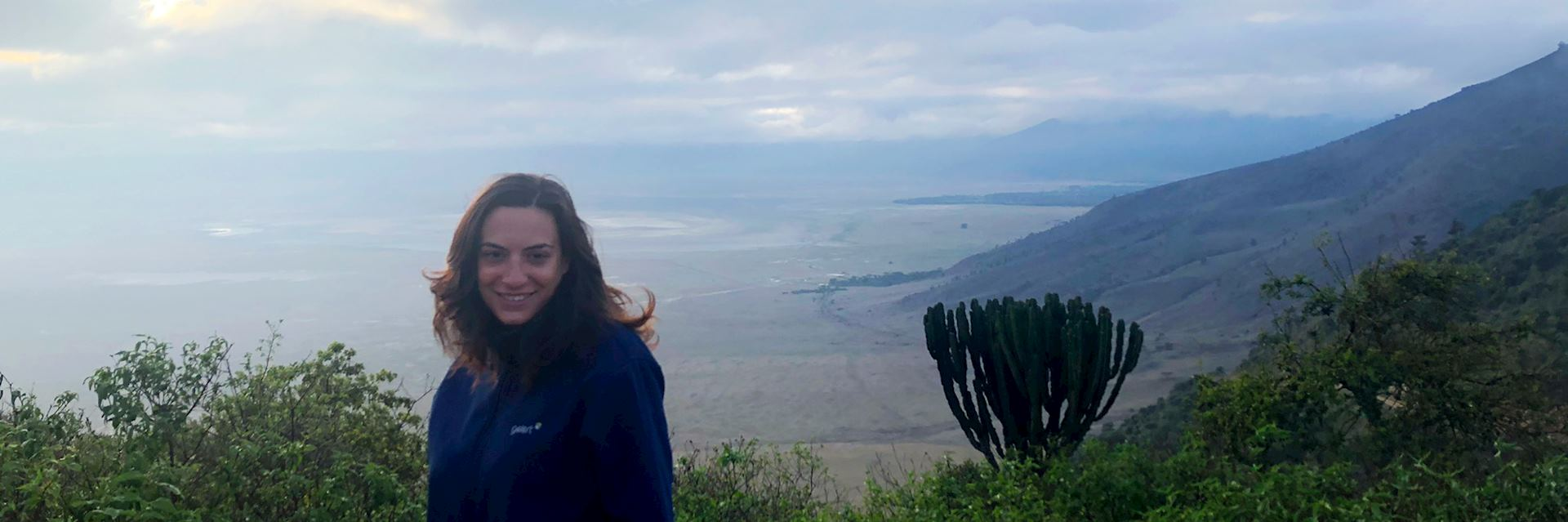 Giovanna at the Ngorongoro Crater