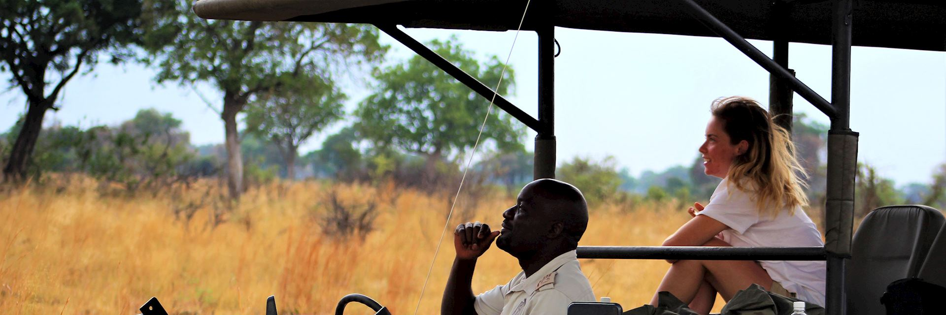 Hannah on a game drive in Botswana