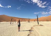 Harriet at Deadvlei, Namibia