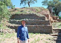 Iain exploring the ancient Kami ruins near Bulawayo, Zimbabwe