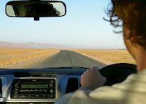 Driving in Tanzania