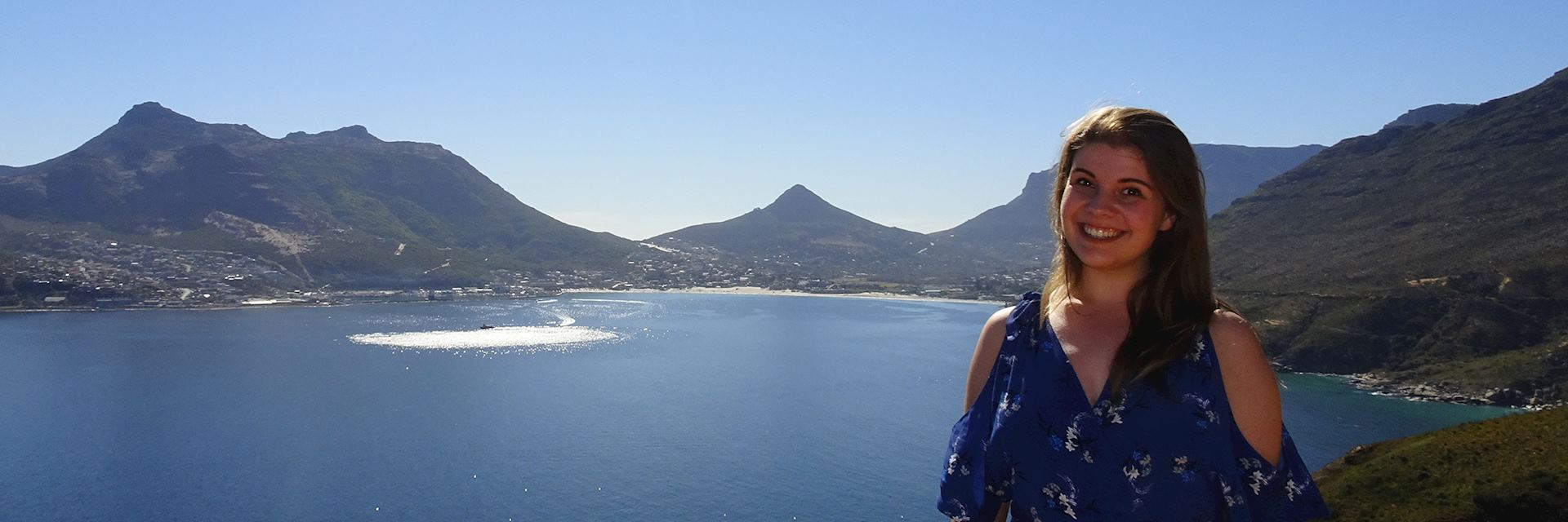 Kirsty visiting Hout Bay, South Africa