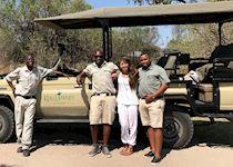 Louise on safari, Botswana