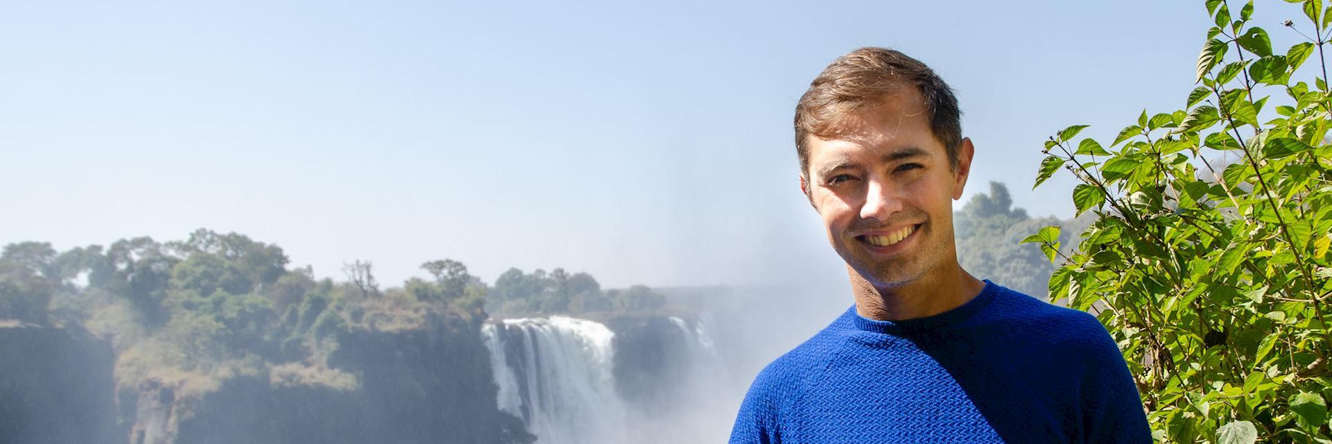 Philip at Victoria Falls, Zimbabwe