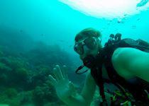 Richard diving off the coast of Zanzibar