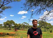 Richard on safari in Tarangire National Park, Tanzania