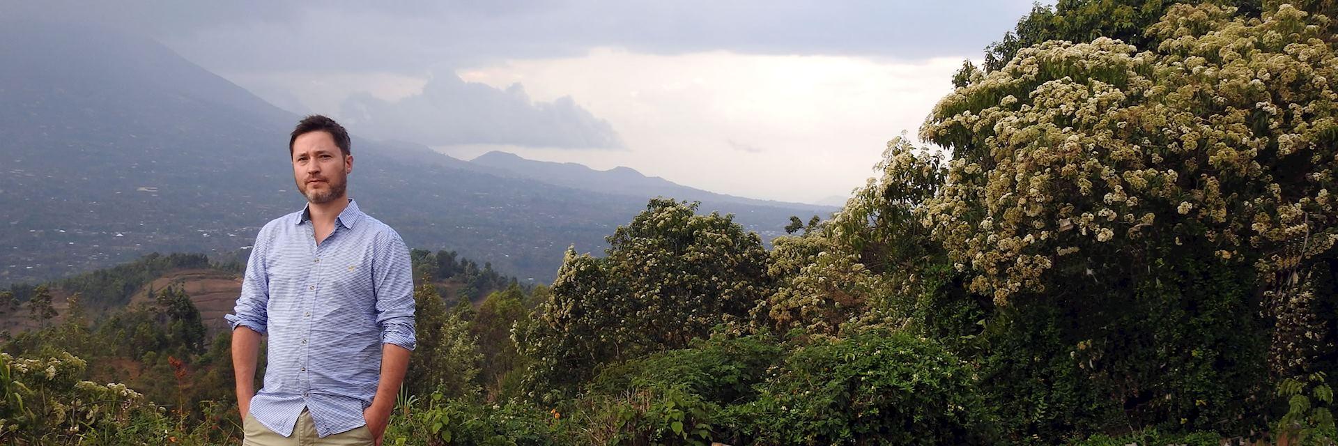 Toby in Virunga National Park, Rwanda