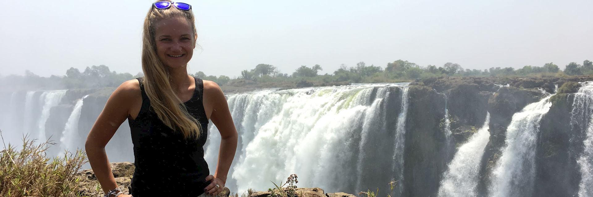 Willa at Victoria Falls