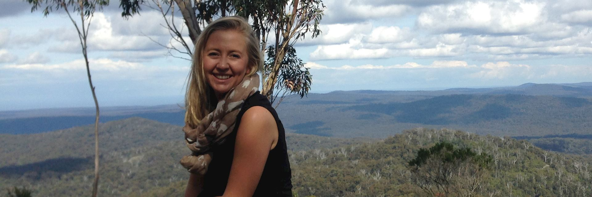 Alice at Genoa Peak in Croajingolong National Park, Australia