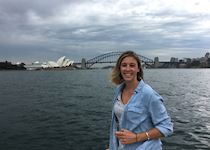 Haley in Sydney Harbour