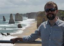 James at the Twelve Apostles, the Great Ocean Road, Victoria