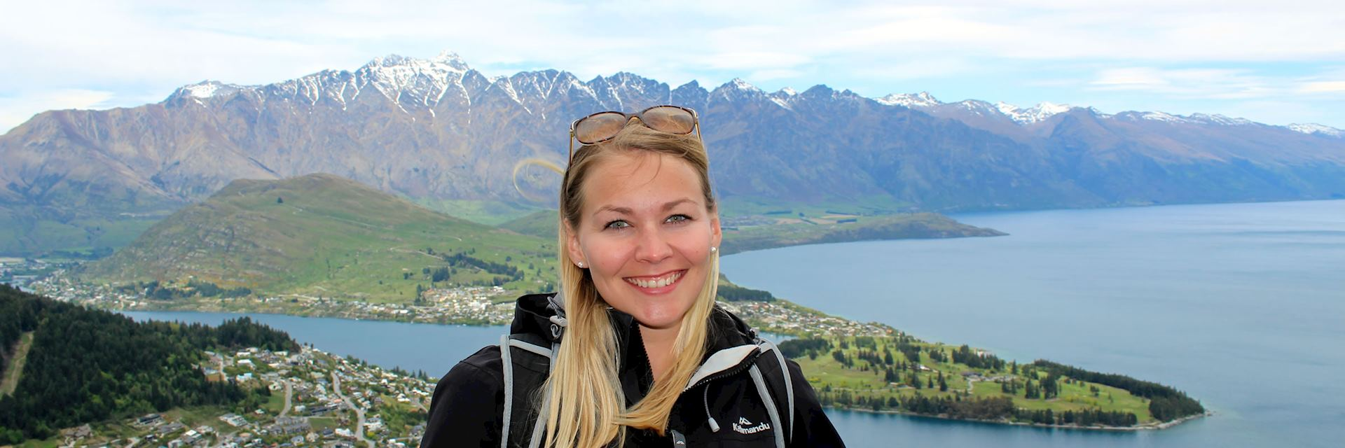 Janin at the Skyline Gondola lookout in Queenstown, New Zealand