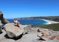 Janin at the Remarkable Rocks on Kangaroo Island