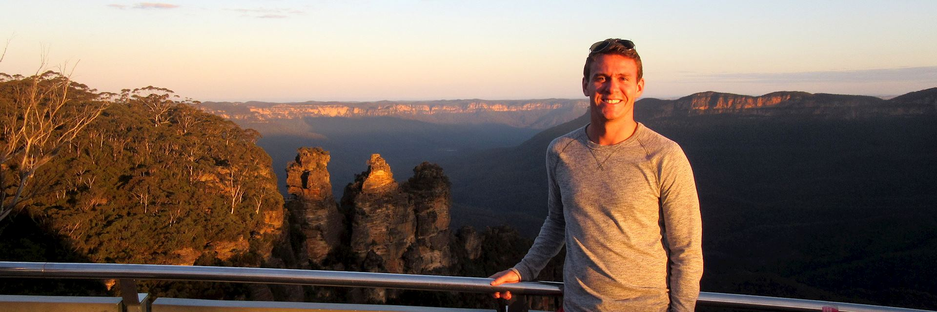 Joshua at The Three Sisters in the Blue Mountains, Australia