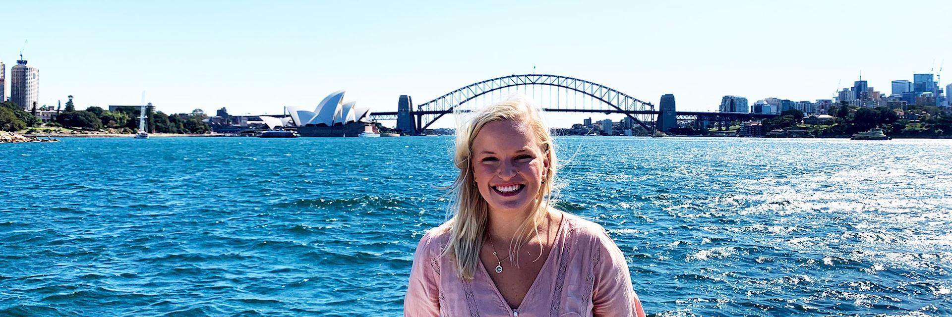 Lauren at Sydney Harbour