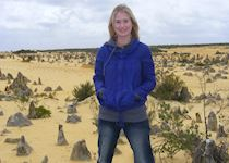 Lucy at the Pinnacles in Nambung National Park, Australia