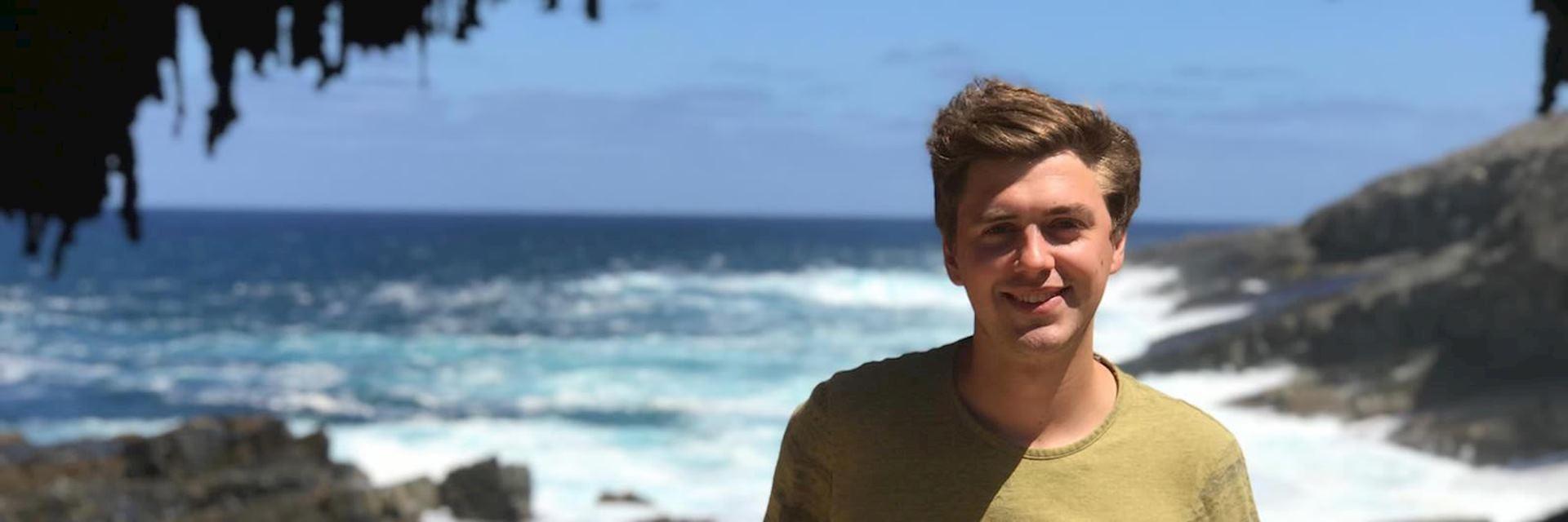Sean at Admirals Arch, Kangaroo Island