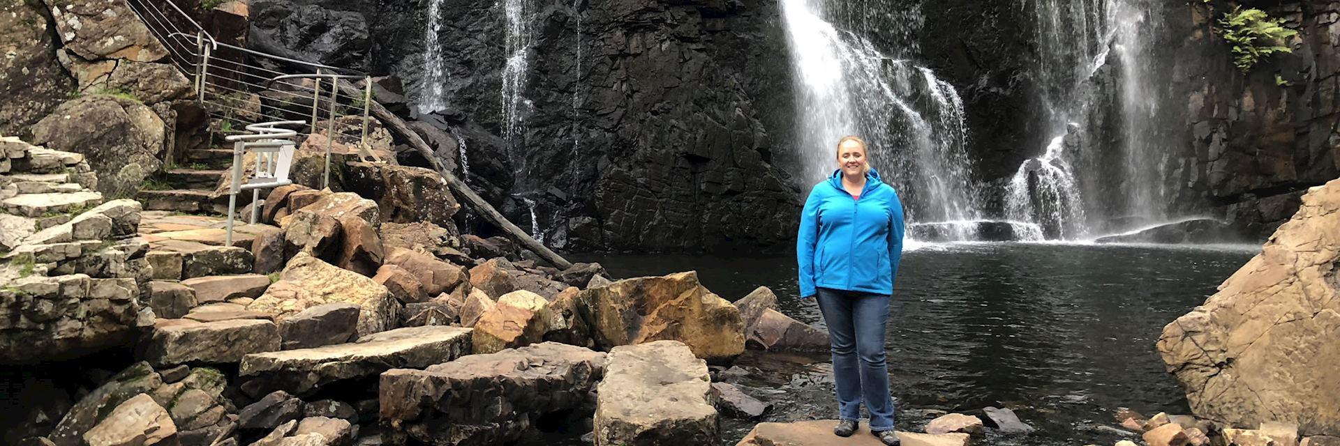Sian at MacKenzie Falls in the Grampians, Australia