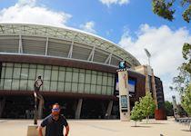 Simon at the Adelaide Oval, South Australia