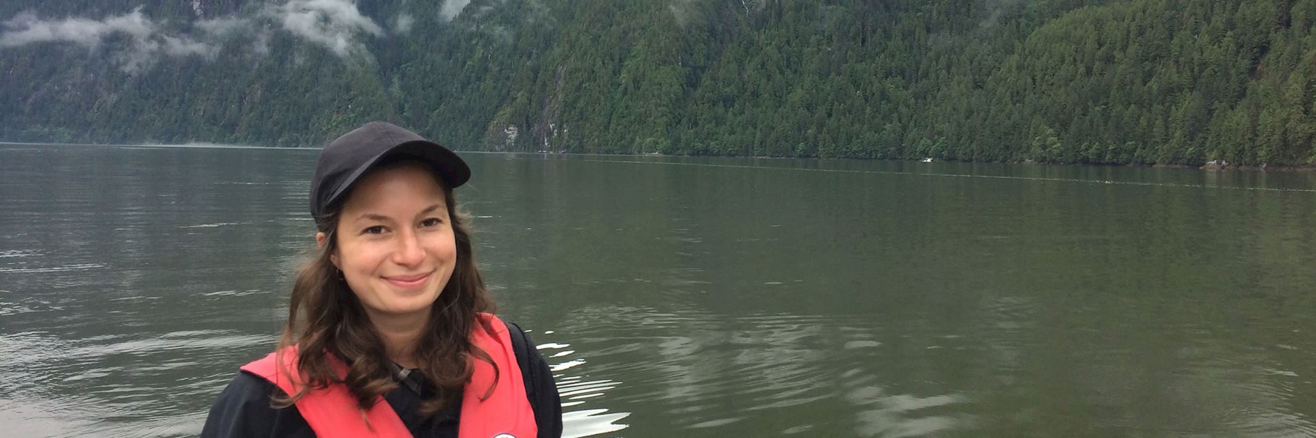 Emily at Spirit Bear Lodge in the Great Bear Rainforest, BC, Canada