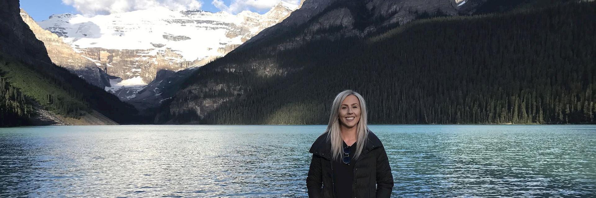 Emily at Lake Louise