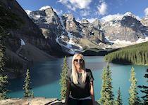 Emily at Moraine Lake, Alberta