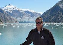 Mike cruising near Dawes Glacier, Alaska