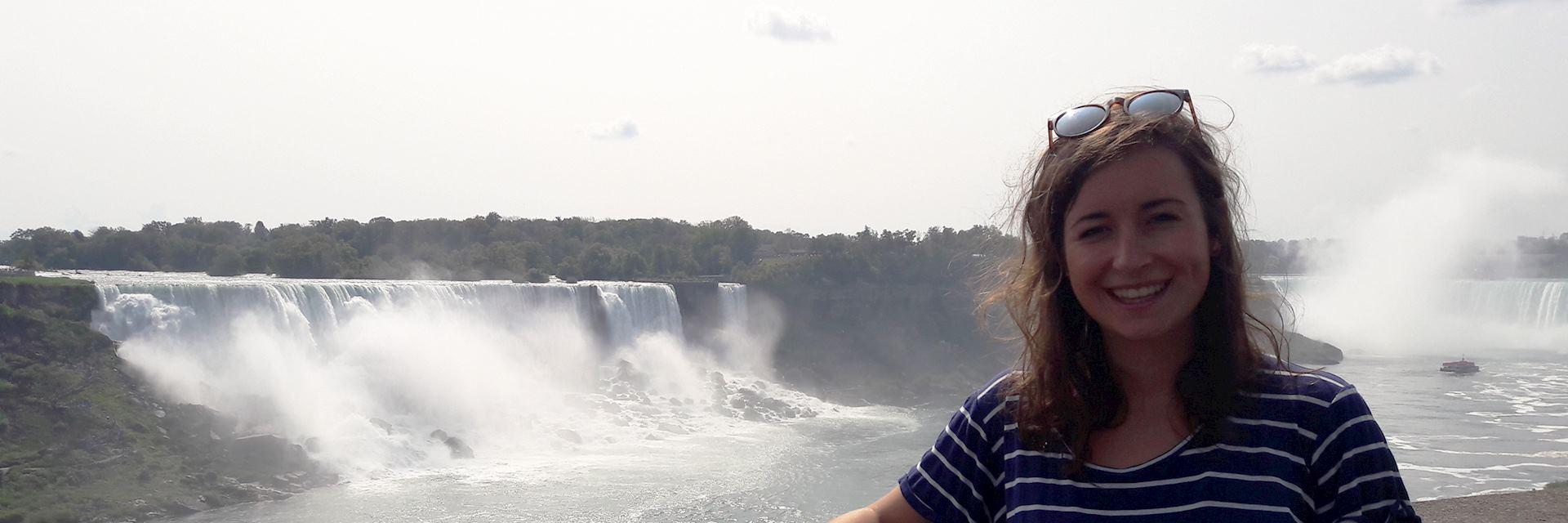 Nathalie visiting Niagara Falls, Canada