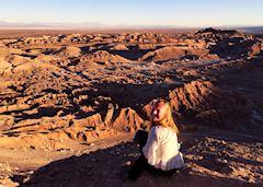 Ciara in the Atacama Desert, Chile