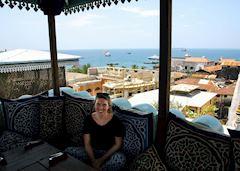Susannah in Stone Town, Zanzibar