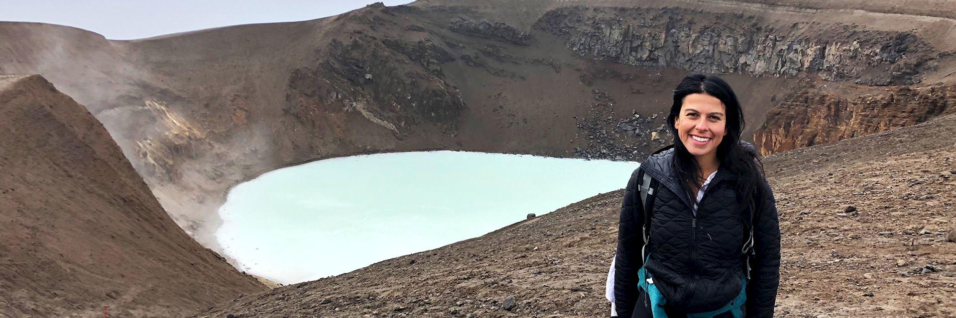 Amanda at the Askja Crater