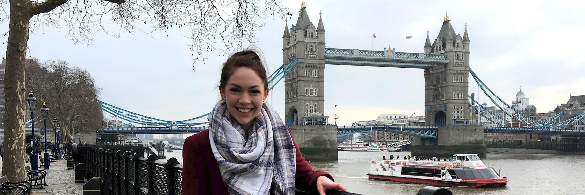 Anna at Tower Bridge, London, England
