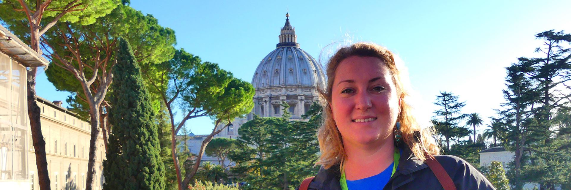 Cara visiting the Vatican City in Rome, Italy