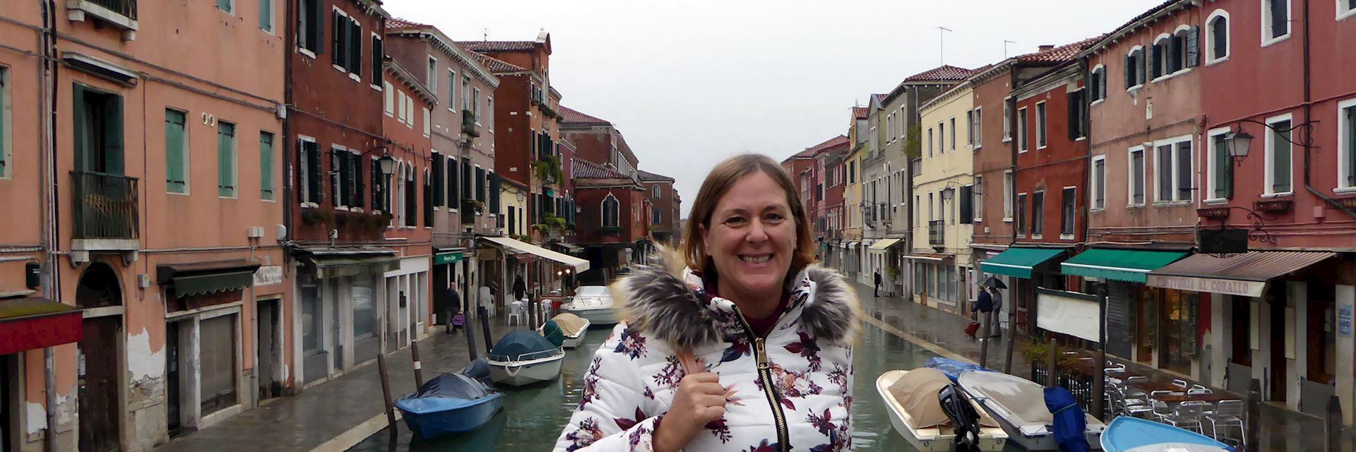 Carolyn in Burano, Venice