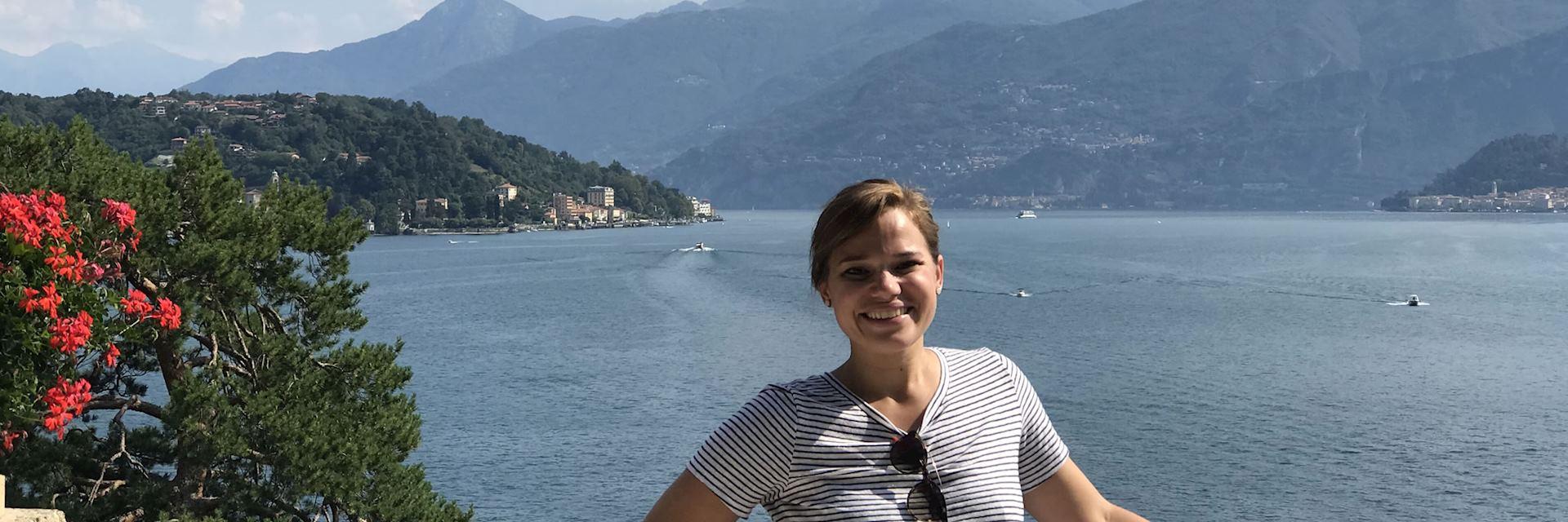 Elizabeth at Lake Como