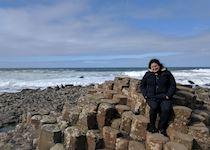 Liz on the Giant's Causeway, County Antrim, Northern Ireland