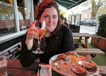 Liz at a restaurant in Limerick, Ireland