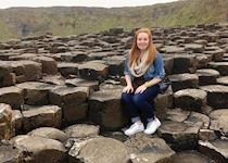 Emily at the Giant's Causeway, County Antrim, Northern Ireland
