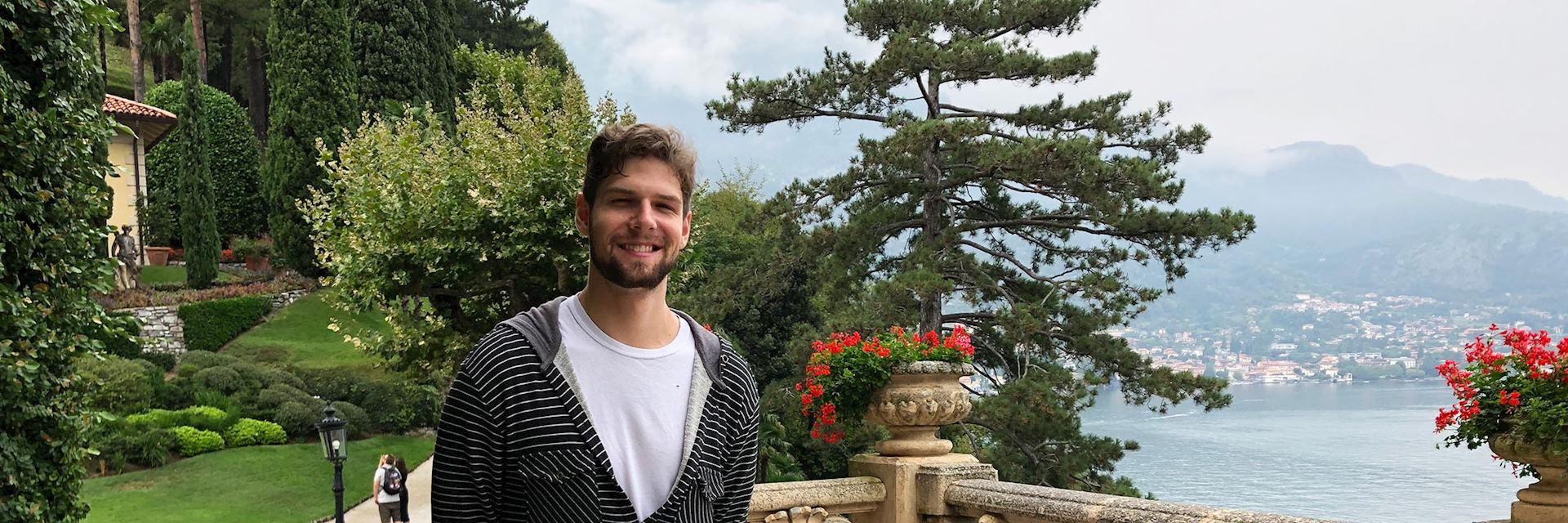 Eric visiting Lake Como, Italy