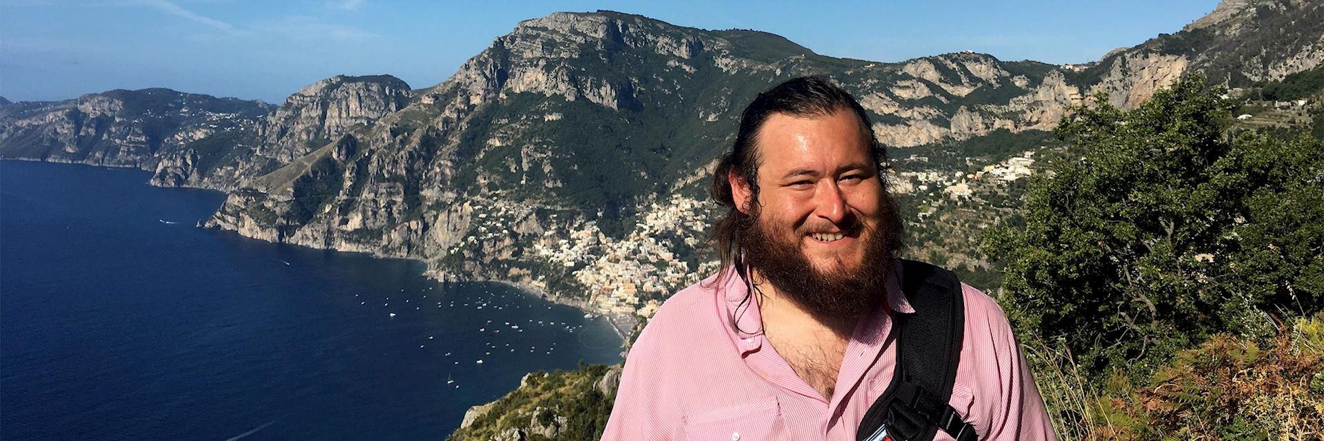Evan visiting the Amalfi Coast, Italy