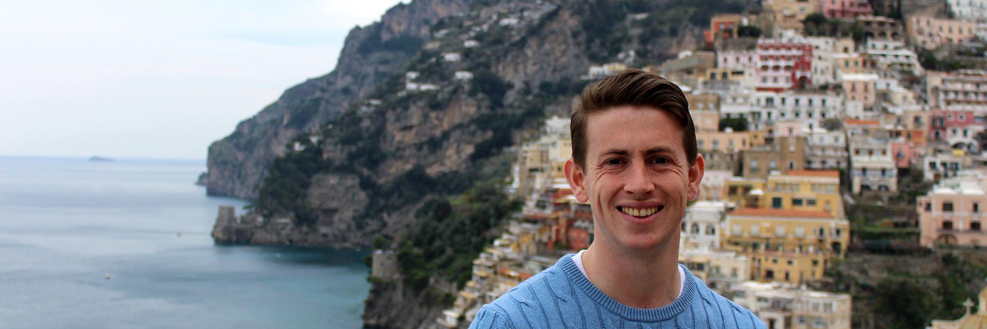Gavin in Positano