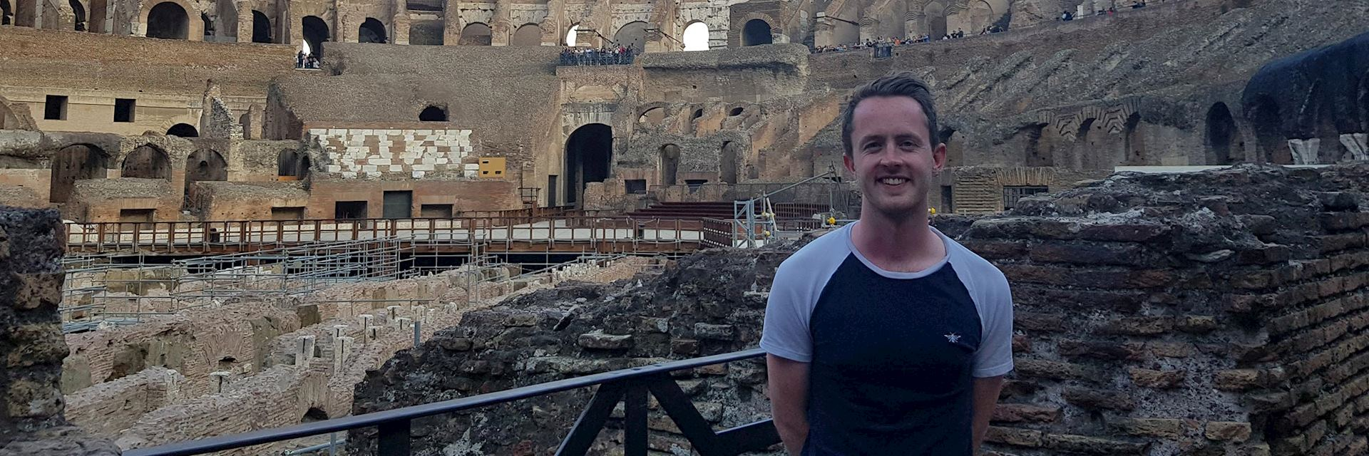 Henry visiting the Colosseum in Rome